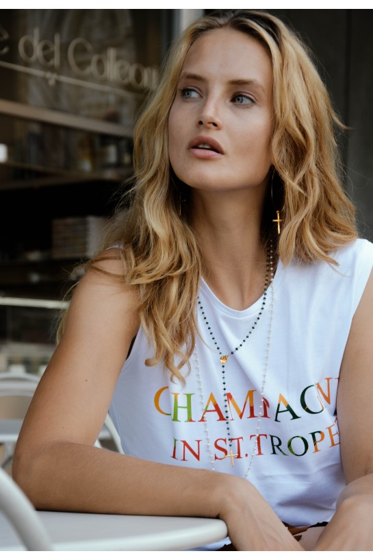 T-shirt CHAMPAGNE IN ST. TROPEZ