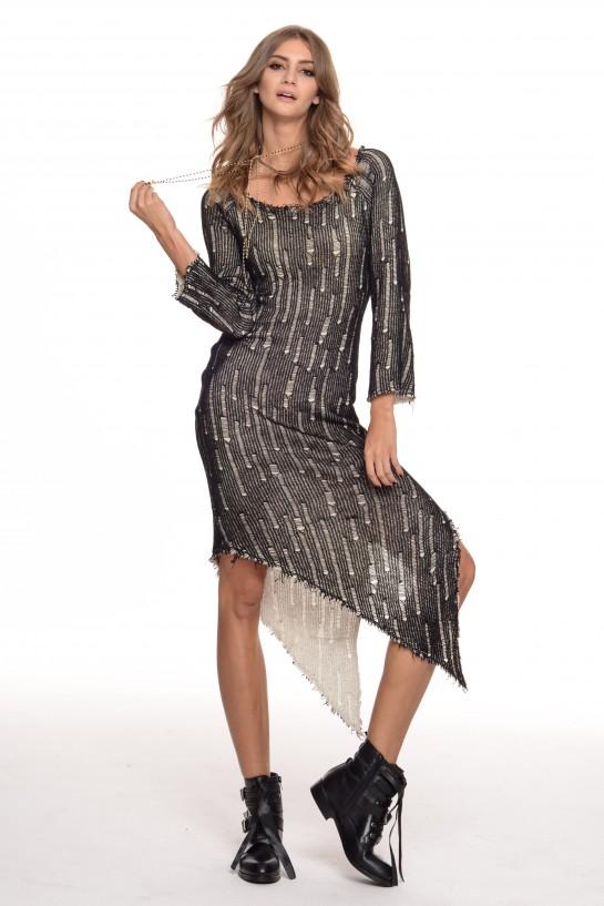 Dwustronna asymetryczna sukienka
