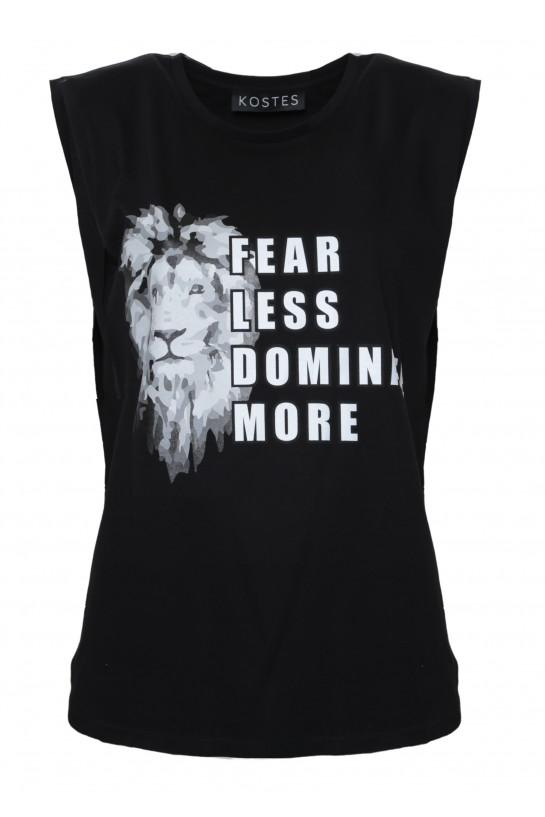 T-shirt bez rękawów z Lwem