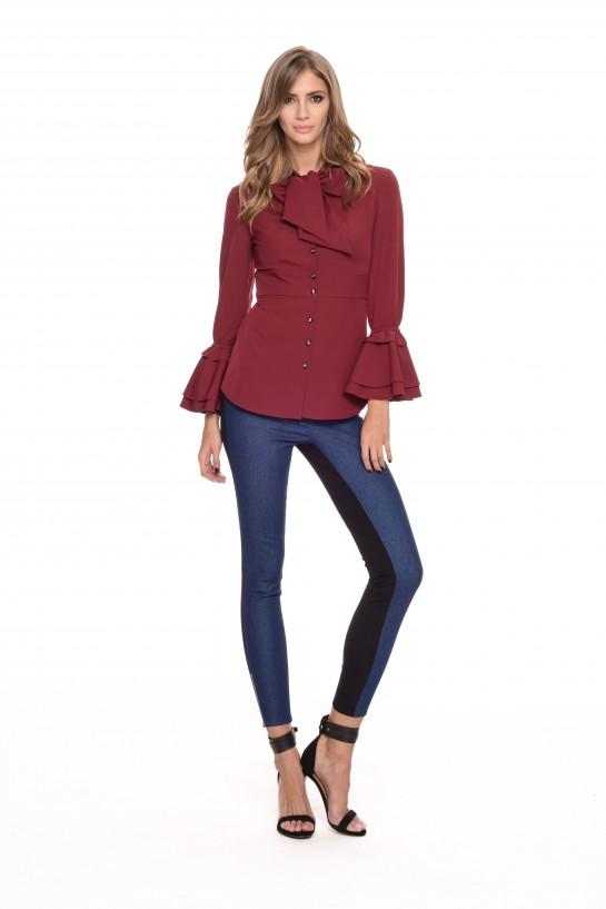 Spodnie jeansowe łączone ze spandeksem