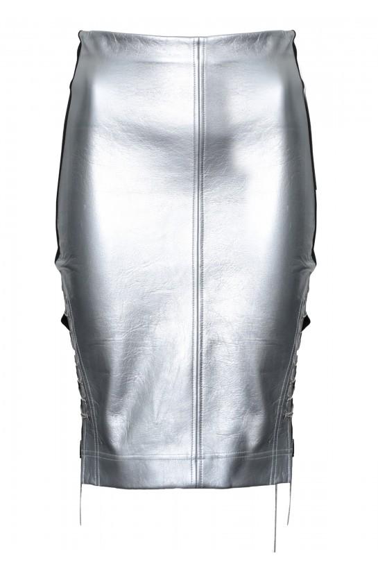 Spódnica srebrna z łańcuszkiem