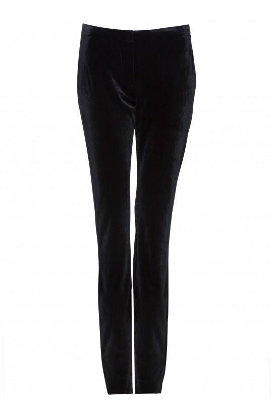 Czarne spodnie z weluru