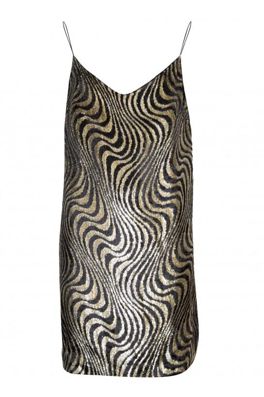 Sukienka na ramiaczkach z weluru