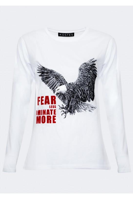 T-shirt z długim rękawem z orłem