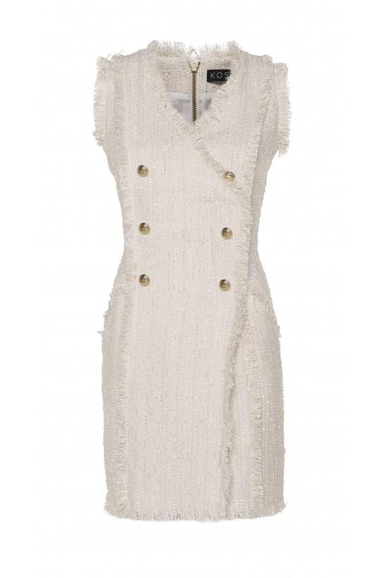 Sukienka z frędzlami bez rekawów