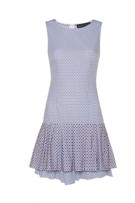 Sukienka w kratkę z falbanką