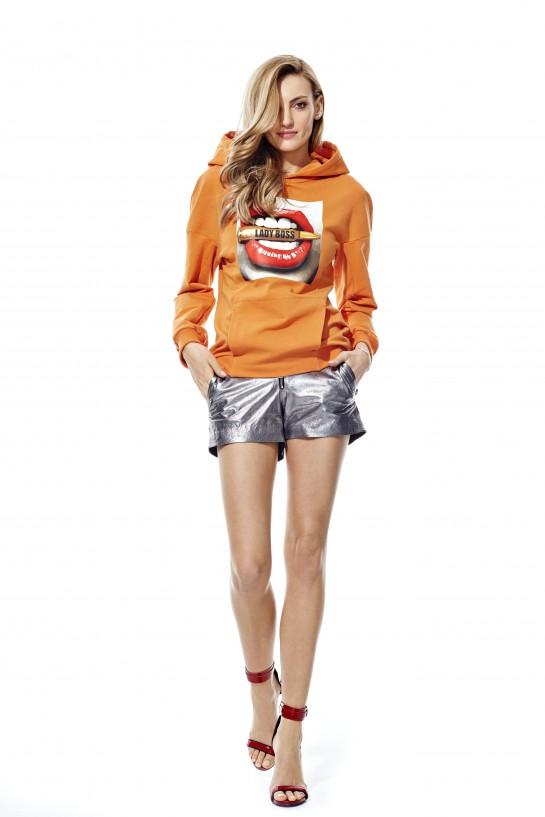 Bluza z kapturem LADY BOSS pomarańczowa