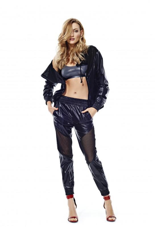 Spodnie ortalionowe czarne