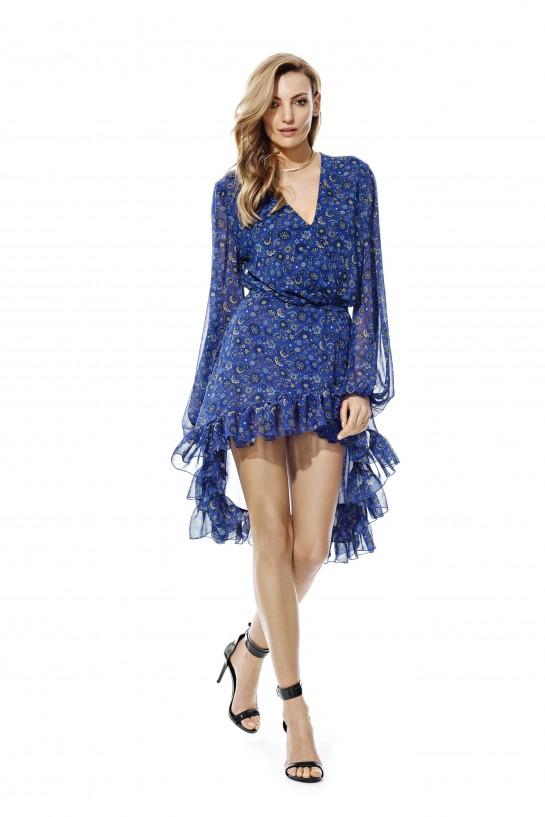 Sukienka w niebieskie kwiatuszki