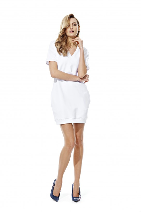 Sukienka dresowa LADY BOSS biała