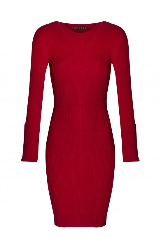 Sukienka dzianinowa czerwona