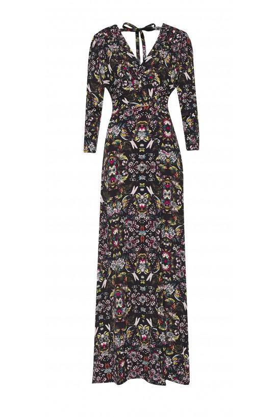 Długa sukienka z jedwabiu
