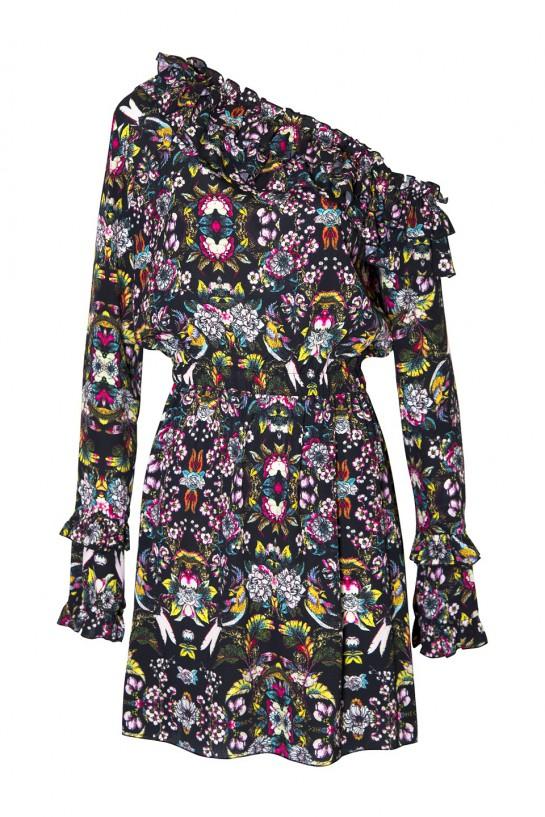 Sukienka w czarne kwiatuszki