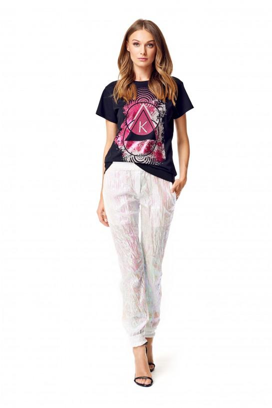 T-shirt z hologramowym nadrukiem