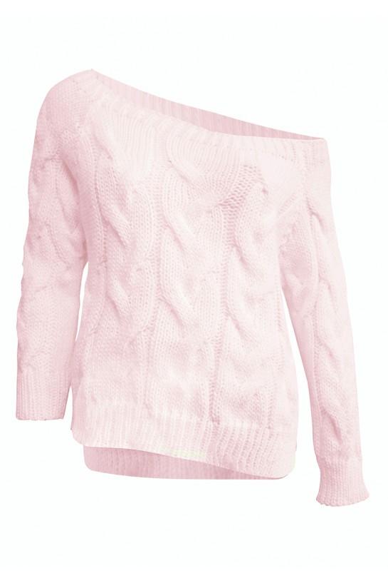 Sweter dzianinowy w kolorze budyniowym