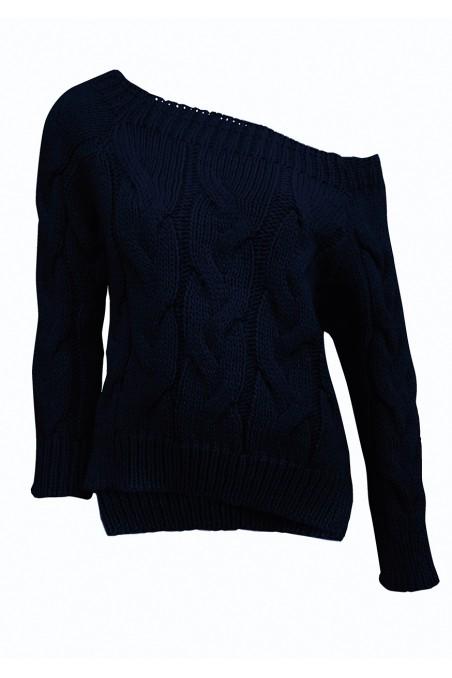 Sweter dzianinowy w kolorze granatowym