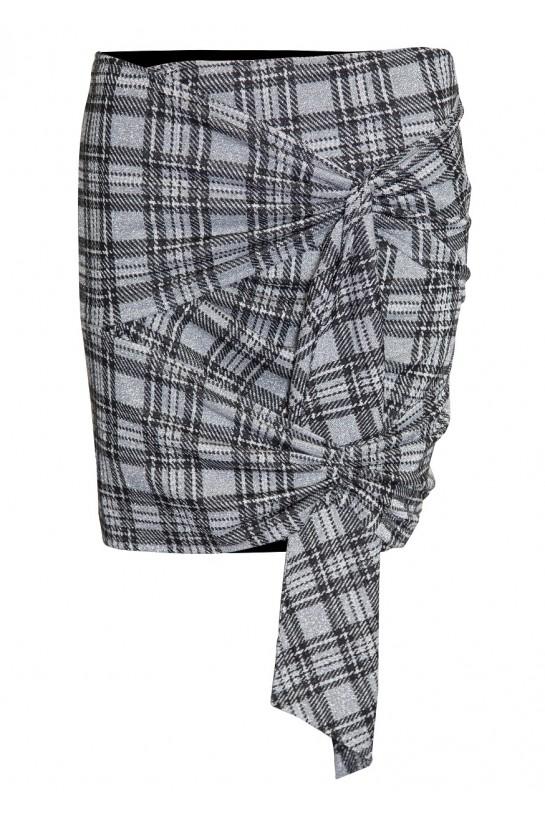 Spódnica asymetryczna w kratkę