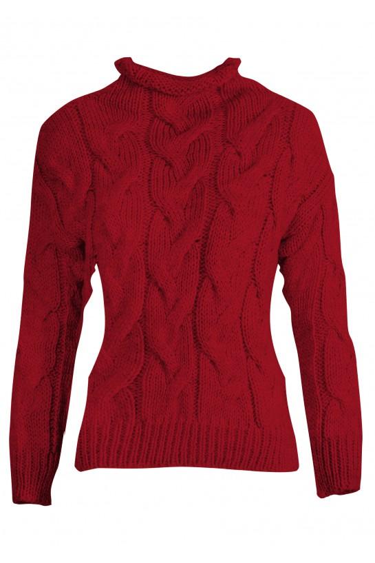 Sweter ze splotem