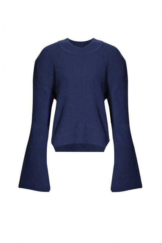 Sweter z dłuższym tyłem
