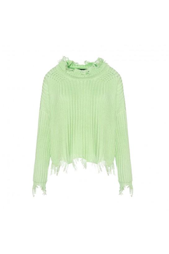 Sweter dzianinowy w kolorze pistacjowym