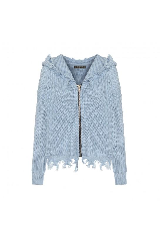 Sweter ze strzępieniem