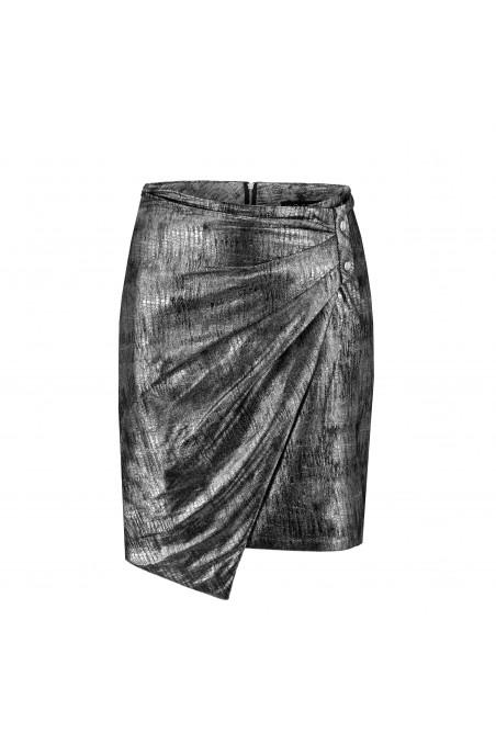Spódnica mini srebrna