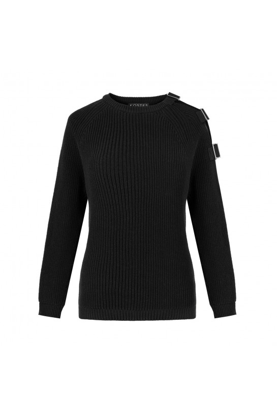 Sweter z klamrą