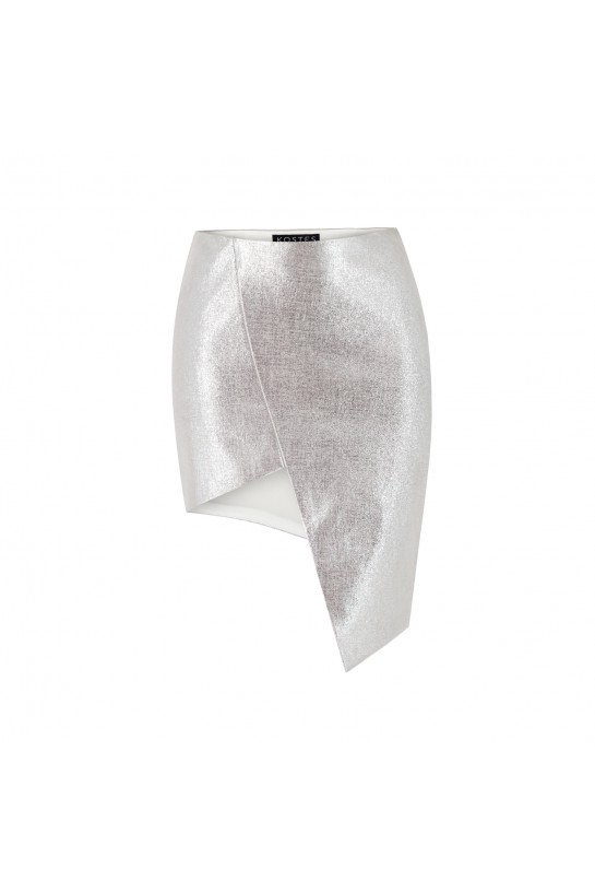 Spódnica asymetryczna skórzana