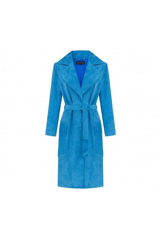 płaszcz zamszowy