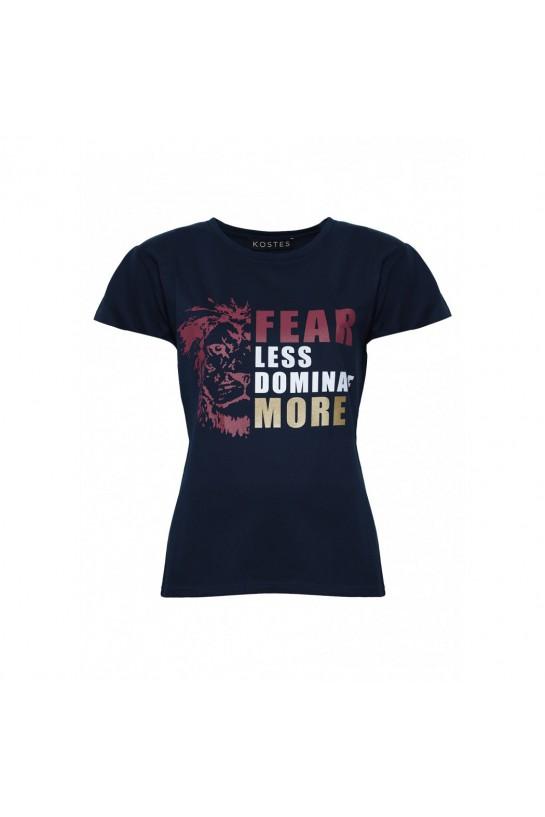 T-shirt granatowy z Lwem