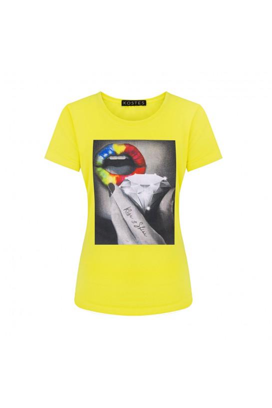 T-shirt RISE&SHINE żółty