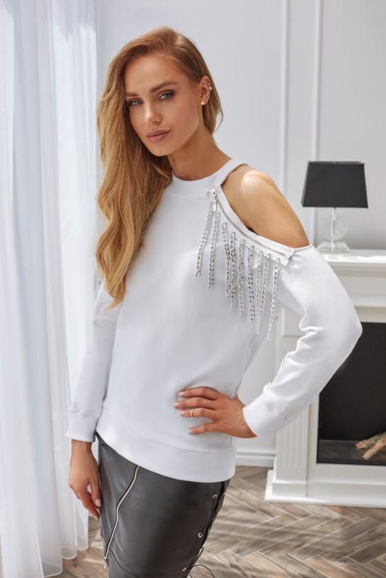 Bluza z ozdobnym łańcuchem