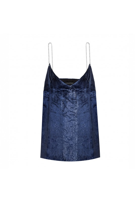 Top with velor straps