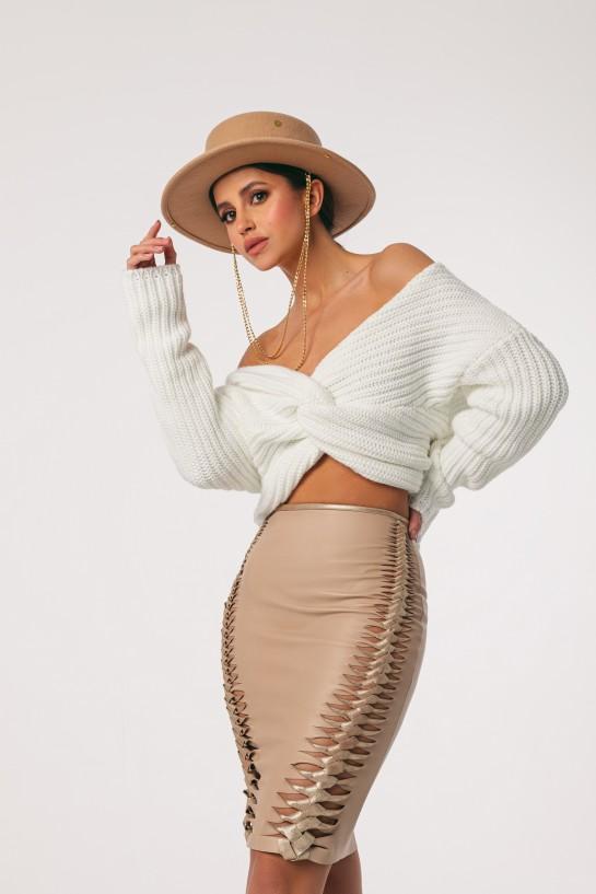 Leather Braid skirt