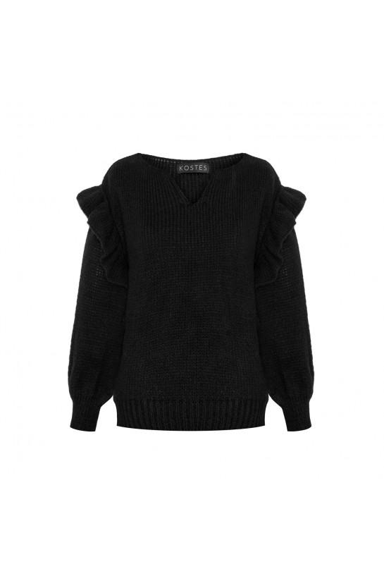 Frill sweater