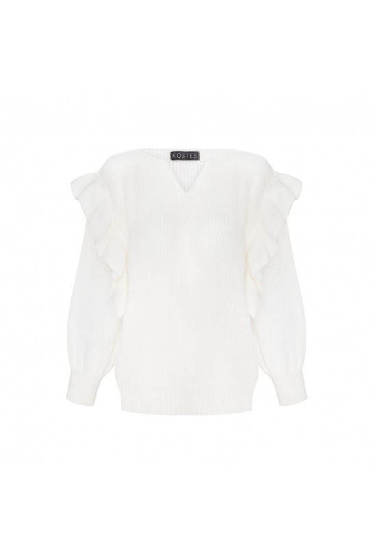 Frill sweater