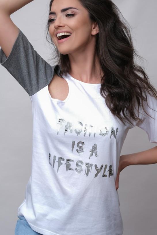 T-shirt z łezką